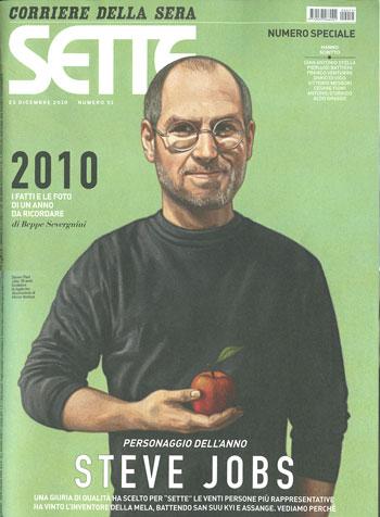 Steve Jobs uomo dell'anno 2010