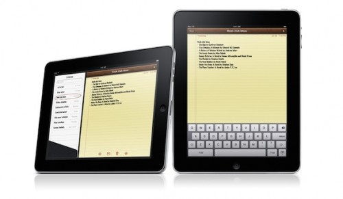 Note per iPad