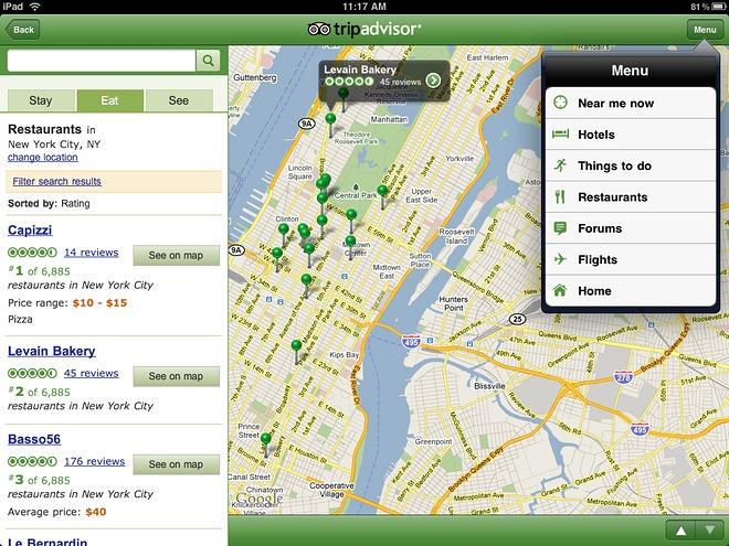 TripAdvisor per iPad