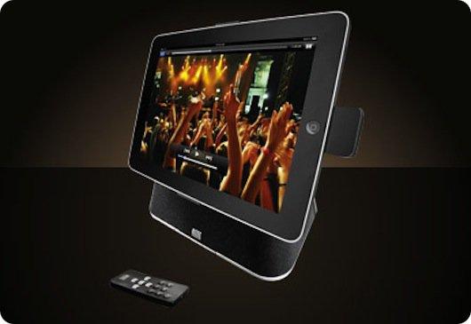 Supporta da tavolo per iPad con altoparlanti