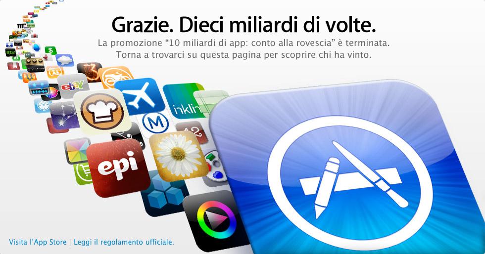 App Store 10 miliardi di Apps