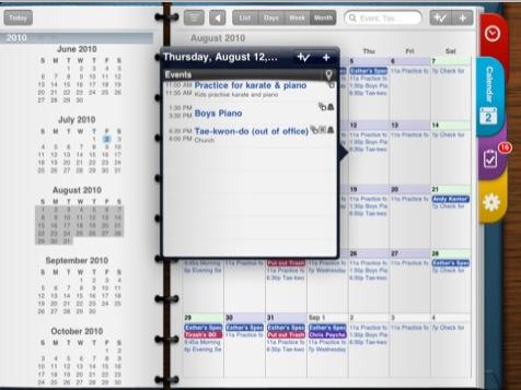 Pocket Informant HD per iPad Screenshot