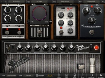 Amplitube Fender per iPad screenshot