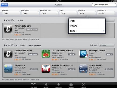 Aggiornamento App Store