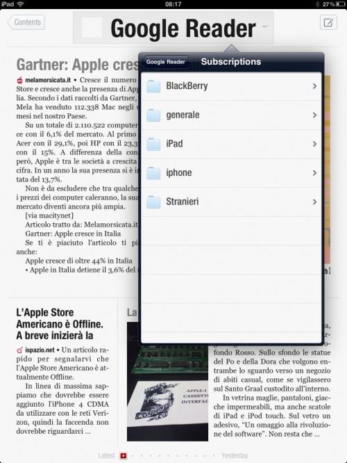 Flipboard per iPad screenshot
