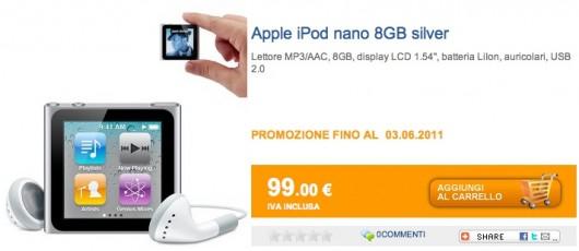 iPod Nano sottocosto al marcopolo Shop