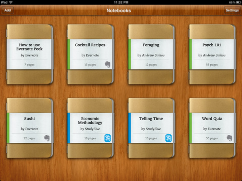 Evernote Peek per iPad 2
