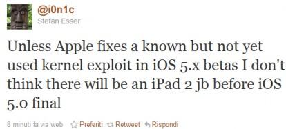 Jailbreak iOS 5.0 su iPad 2