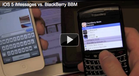 iMessages vs BlackBerry Messenger