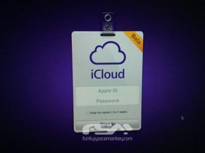 iCloud Login screenshot