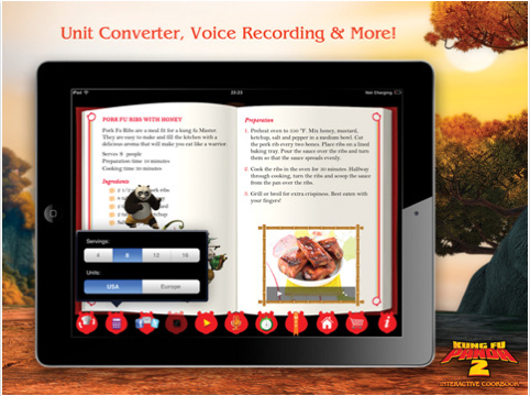 Kung Fu Panda cooking Book per iPad
