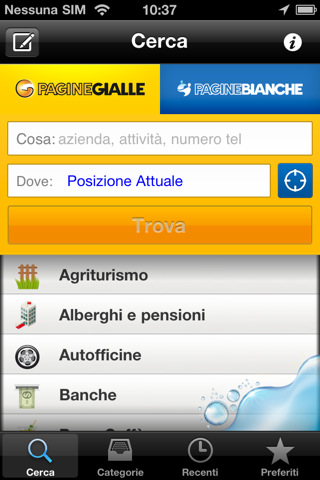 Pagine gialle per iPhone