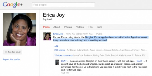 google + app