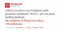 iPad 2 in arrivo con vodafone