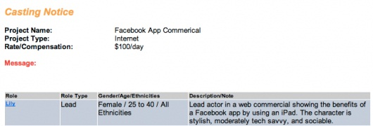Facebook cerca attori per lo spot dedicato all'app per iPad