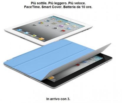 iPad 2 tre italia